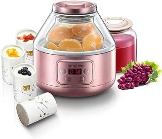 WGNHM Large Capacity Homemade Enzyme Machine Glass + Ceramic Household Automatic Yogurt Machine (Color : Pink)