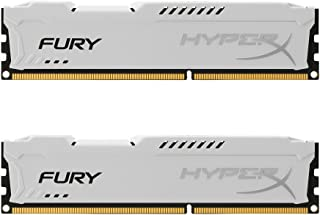 HyperX Fury - Memoria RAM de 8 GB (1866 MHz DDR3 Non-ECC CL10 DIMM, Kit 2x4 GB), Blanco