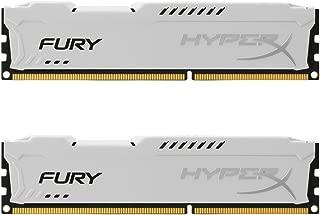 Kingston HyperX FURY 8GB Kit (2x4GB) 1600MHz DDR3 CL10 DIMM - White (HX316C10FWK2/8)