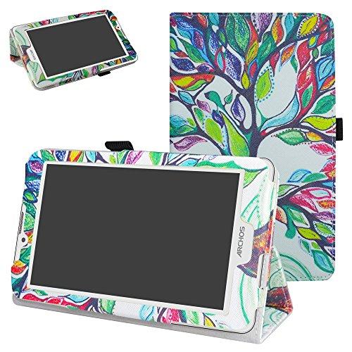 Archos 70 Xenon Color / 70 Platinum 3G hülle,Mama Mouth Folding Ständer Hülle Case mit Standfunktion für 7