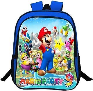 Mochila Escolar Super Mario para Niños, Mochila de 13 Pulgadas para Niños de 2 a 5 años, Mochila para Niños de 2 a 5 años
