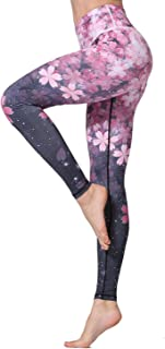 MTSCE Yoga Pants Printed Running Leggings Capris Yoga Capris for Fitness Riding Running