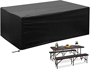 GAOANMO Funda de Muebles de Jard/ín para Cubierta de Muebles Interior y Exterior Funda Muebles Exterior Oxford Impermeable Anti-UV Protecci/ón Cubierta