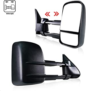 Spead-Vmall Towing Mirrors Replacement Side View Tow Mirrors   Fits Chevy GMC 1999-2007 Chevy Silverado Sierra 1500 2500 3500, 2000-2006 Chevy Tahoe Suburban 1500 2500 / GMC Yukon XL Truck