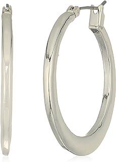 Robert Lee Morris Women's Hammered Silver Hoop Earrings, One Size