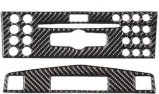 Yctze Verkleidung der Mittelkonsole, Carbon Verkleidung der Mittelkonsole für die Navigation, passend für C Klasse W204 2005 2012