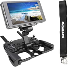Anbee Foldable Aluminum Tablet Stand Cell Phone Bracket with Lanyard Support Crystal Sky Monitor Compatible with DJI Mavic 2 / Mavic Pro/Mini/Mavic Air/Spark Drone Remote Controller, Black
