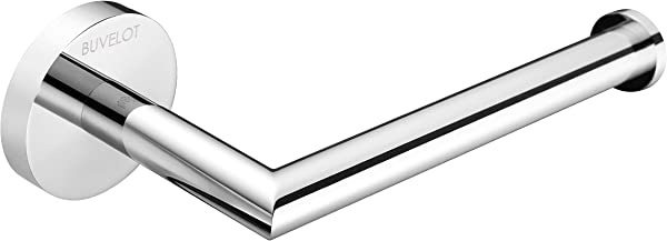 BUVELOT 077030 CR Leo Bathroom Brass Toilet Paper Holder Wall Mounted Modern Style Chrome