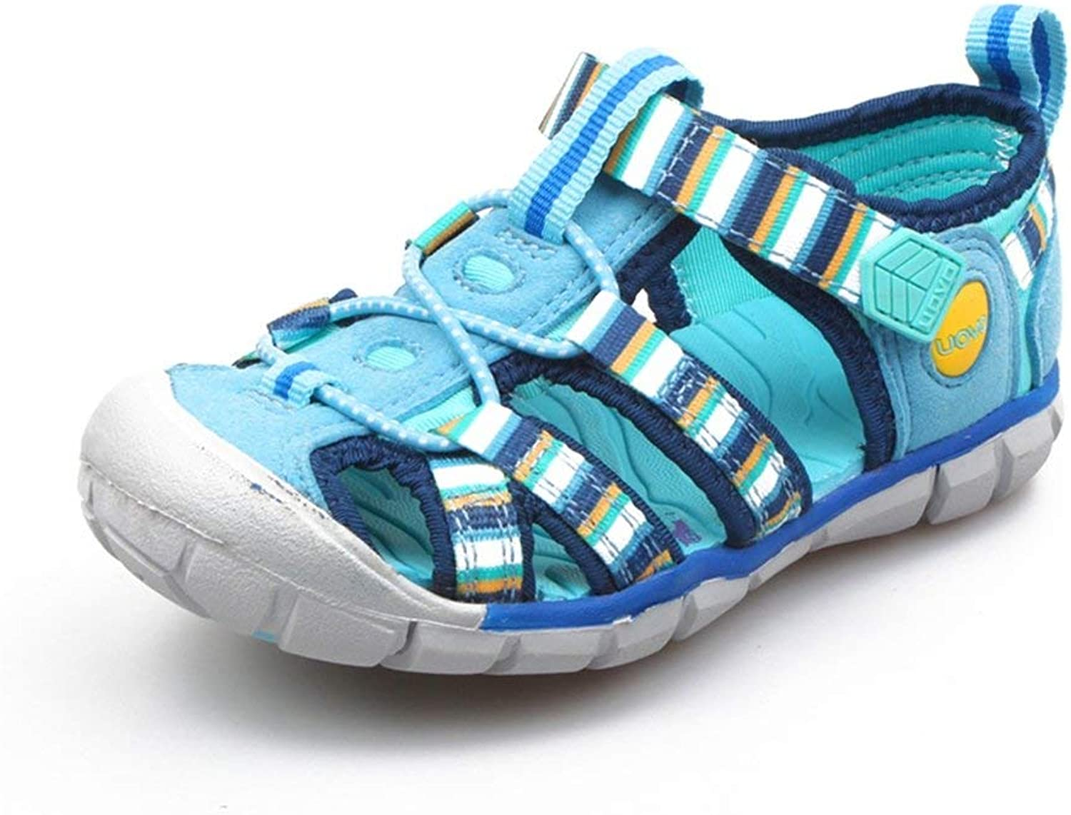Fashion shoesbox Girls and Boys Sandals Closed Toe Strap Breathable Mesh Outdoor Athletic shoes for (Little Kid Big Kid)