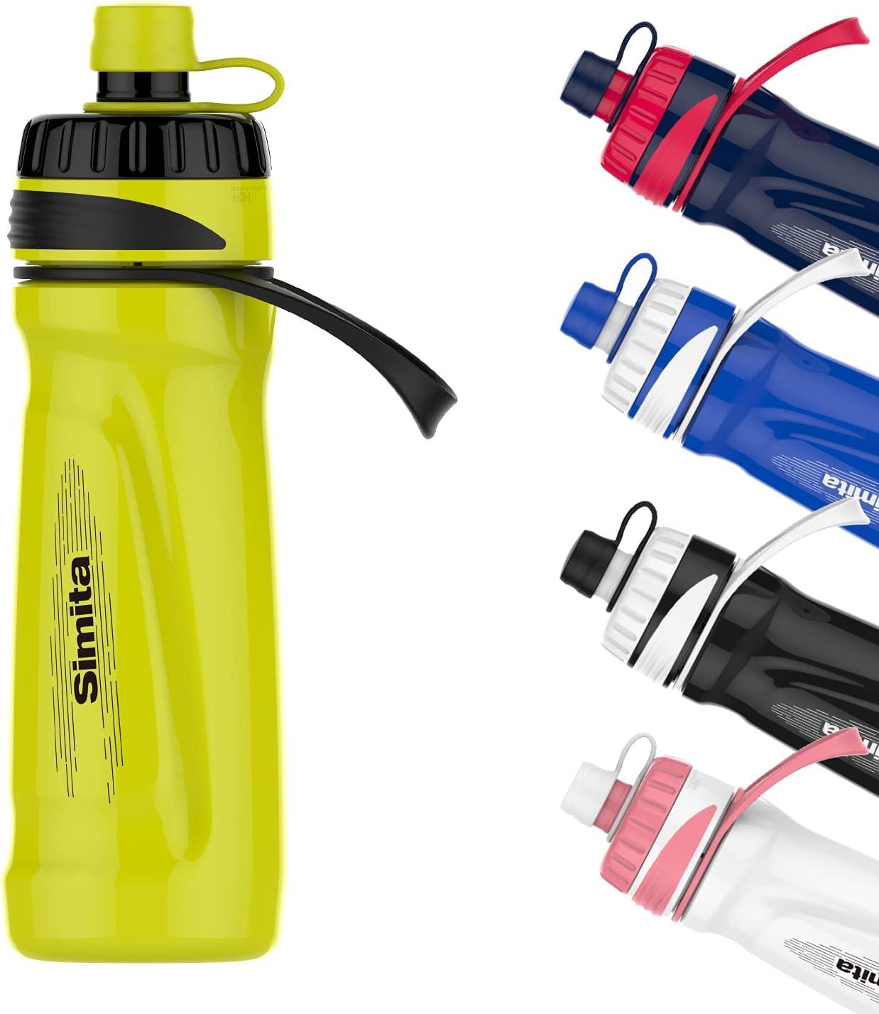 700ml 23oz Botella de agua para ciclismo sin BPA, botella exprimible, botella para beber en bicicleta para motociclista, amarillo