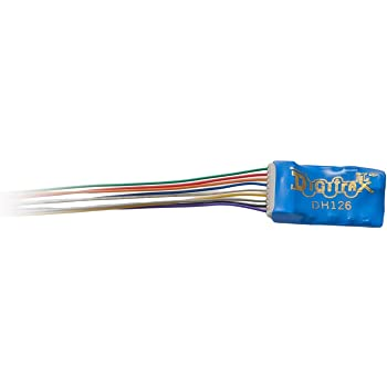 Digitrax DGTDH126D HO DCC Decoder Series 6, 6-Functions 9-Pin 1A