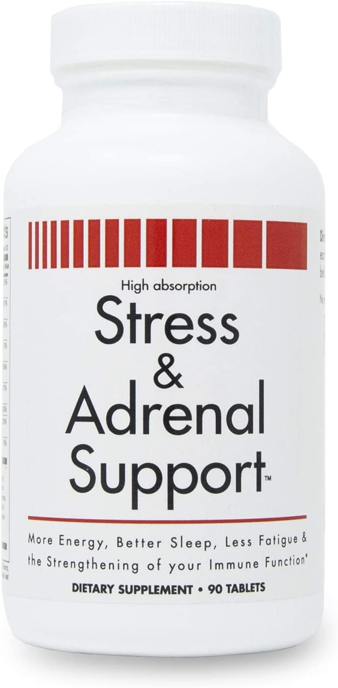 Stress and Adrenal Support - 90 Chewable Tablets - Citrusy Orang