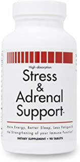Stress and Adrenal Support - 90 Chewable Tablets by New Health Products