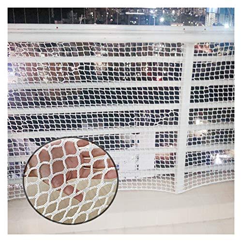 Red de seguridad para niños de OSHA HJWMM, duradera escalera protectora para niños, protección de cubierta fuerte para gato hogar jardín, distancia de red: 2,5 cm (color: blanco, tamaño: 0,8 x 3 m)