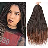 Lihui Crochet Hair For Black Women Crochet Braids Box Braids Crochet Hair 7Pcs/lot Crochet Box Braids Pre Looped Goddess Box Braids Braiding Hair Extensions(24Inches,1B/30 Color)