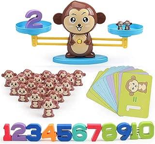 J-hong Monkey Balance Math Game for Girls & Boys | Fun, Educational Children's Gift & Kids Toys STEM Learning Ages 3+ (65-Piece Set)