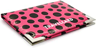 Soft Leather Travel Card Bus Pass Credit Card ID Card Wallet Cover Case Holder by Kwik Buy (Polka Dot Hot Pink)