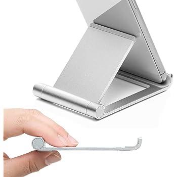 サンワダイレクト スマホ・タブレット用 アルミスタンド 折りたたみ式 軽量80g iPhone iPad 対応 無段階角度調節 200-STN027S