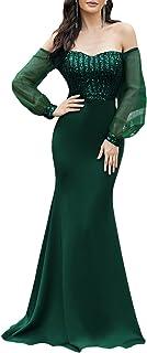 Ever-Pretty Women's Cold Shoulder Sequin Dress Mermaid Evening Dress 0711
