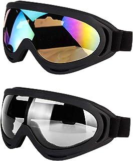7a5a7e7655d LJDJ Motorcycle Goggles - Glasses Set of 2 - Dirt Bike ATV Motocross Anti-UV