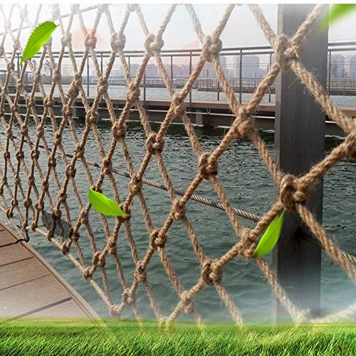Seguridad Niños Escalada Red De Cuerda De Cáñamo, Barandilla De Balcón Protección De Valla De Desarrollo Infantil Al Aire Libre Cuerda De Protección De 6 Mm Cuerda 10 Cm Agujero Malla Protecto
