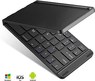 キーボード bluetooth 折りたたみ式 143g 超軽量 薄型 ワイヤレスキーボード USB IOS/Android/Windows に対応 スマホ用 スタンド付 持ち運び便利