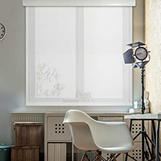 Godear Design Modern Free Stop Sheer Cordless Roller Shade with Cassette Valance, 35