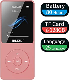 Mp3 Player, RUIZU X02 Ultra Slim Music Player with FM Radio, Voice Recorder, Video Play,..