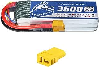YOWOO 14.8 vリポバッテリー、4 sリポバッテリー3600mah 60C with XT60 / Dean-style Tプラグ用RC Evader BXカートラックトラギープレーンUAVドローンFPV格納庫9クリステンイーグルII 90 (4s 3600mah)