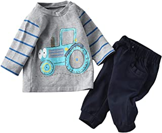 Baby Boys Clothes Outfits Suit Toddler Cute Cartoon Long...
