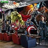 NXMRN Personnalisé 3D Avengers Photo Papier Peint Hulk Iron Man Captain America Mural Garçons...