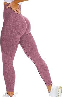 Contour High Waist Yoga Leggings, Seamless Fitness Gym Legging Workout Tights Pants for Women