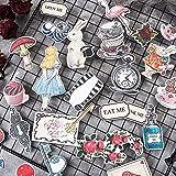 XCVBN Vintage Alice Series Stickers DIY Scrapbooking Junk Journal Album Diary Happy Plan Decorative Stickers 30Pcs/Bag