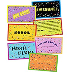 Large quantity: the package contains 280 pieces motivational cards in 7 different styles, with elegant letters and bright-colored patterns, so you can get your employee and sutudents appreciation gifts right every time Quality material: these cards a...