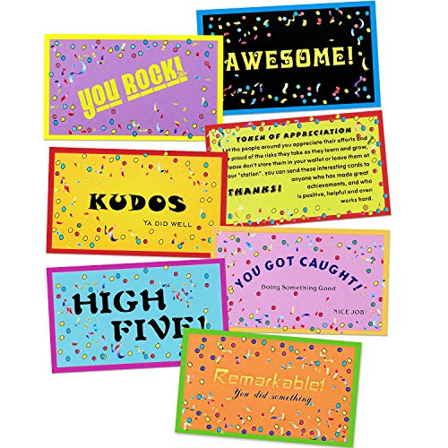 280 Pieces Kudos Card Set Motivational Cards Reward Cards Appreciation Card Gifts for Teachers Employers Friends Coworkers Families, 7 Styles