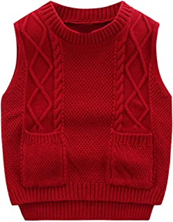 Nlyefa Toddler Baby Sweater Vest Lovely Knitted Pullover Vest Outerwear for Baby Boy Girls