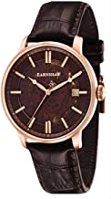 Thomas Earnshaw Mens Vancouver Automatic Skeleton Watch - Brown/Rose Gold