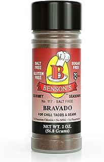 Bensons - Chili Seasoning - Salt-Free, Sugar-Free, Gluten-Free, No MSG, No Preservatives, No Potassium Chloride -17 Herbs,...