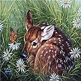 Pintura por números para adultos y niños Sika Deer Set de pintura digital preimpreso decoración del hogar 40x50cm (sin marco)