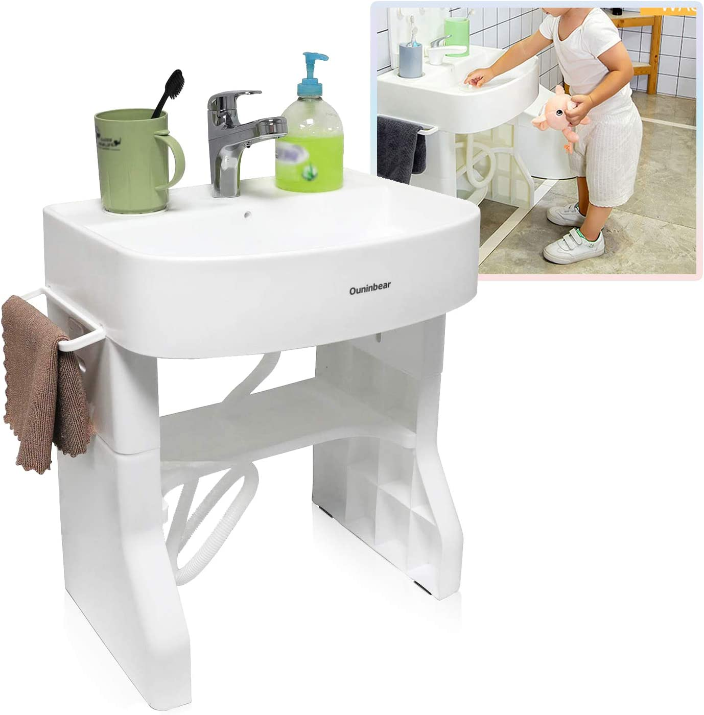HTTMT- Washstand Mesa Mall Self-Care Station Portable Child For Basin Wash Special price
