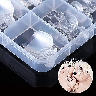 Buqikma 100Pcs Fake Toenail Tips Acrylic Nail Art Toe Decoration Clear Full Cover Artificial False Toe Nail Tips with Box for Nail Salons and DIY Nail Art