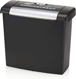 "GBC ShredMaster Basic Home Shredder, PS06-02, Strip-Cut, 6 Sheets (1757402),Side Facing, 11.3"" x 6.1"" x 12.6"""