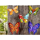 MIXUN 3D Metal Butterfly Wall Ac...