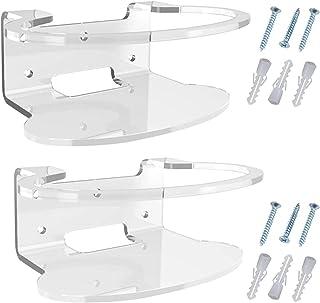 Dreamseeker 2 Stück Acryl-Wandhalterung Für Orbi Router Plastic Shelf Support Pegs Mount Desk Partition Clamp Thick Panels...