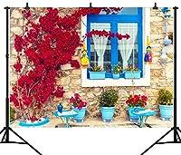 GooEoo 10×8FT(300×240CM)美しい伝統的な家のテーマカスタマイズされたシームレスなビニール写真の背景写真の背景スタジオプロップPGT160C