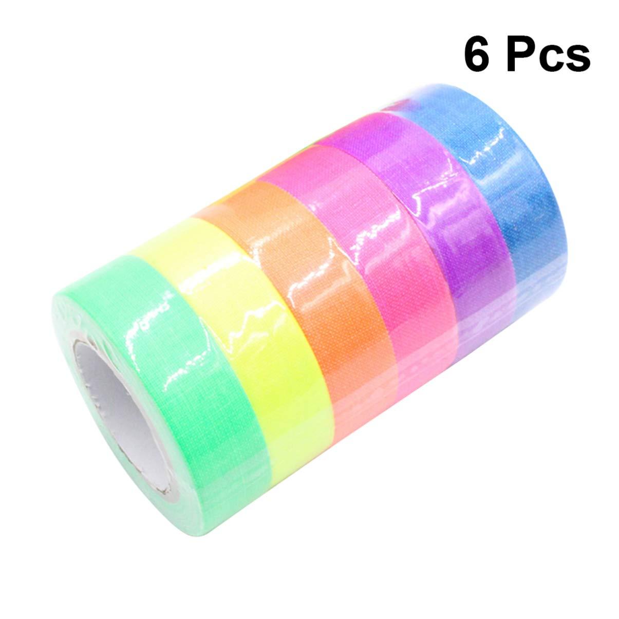 NUOBESTY - Cinta adhesiva de algodón fluorescente para pizarra (colores surtidos): Amazon.es: Hogar