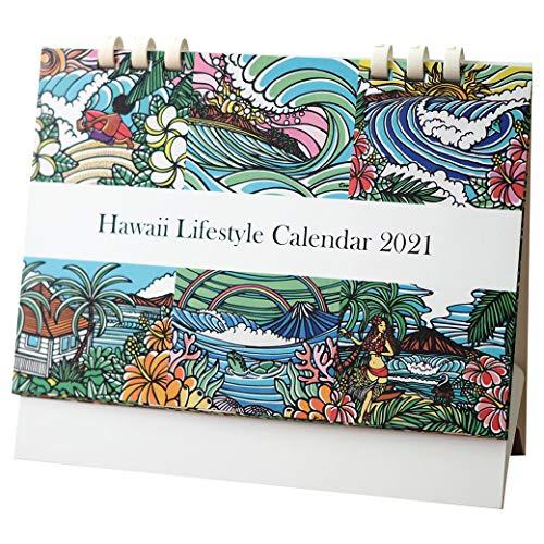 ハワイ ライフスタイル 卓上カレンダー 2021 B6サイズ