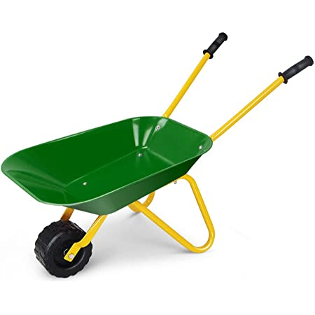 Nightcore Kids Wheelbarrow, Metal Construction Toys Kart, Green