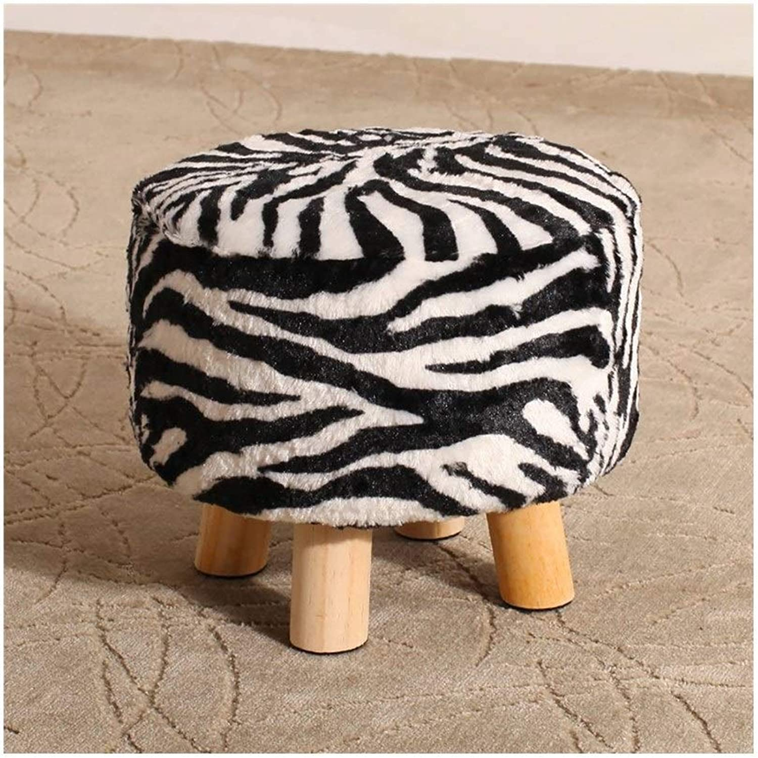 Creative Footstool Doorway shoes Stool Living Room Low Stool Sofa Stool JINRONG (color   C)