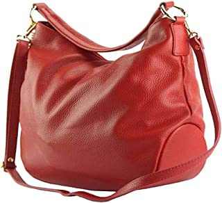 FLORENCE LEATHER MARKET Borsa a spalla con tracolla in pelle donna 35x13x29 cm - Selene - Made in Italy